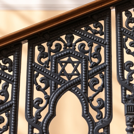 Railing of a synagogue, Grand Choral Synagogue, St. Petersburg, Russia