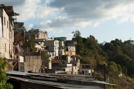 Houses on a hill, Colonia Bethania, Guatemala City, Guatemala Imagens