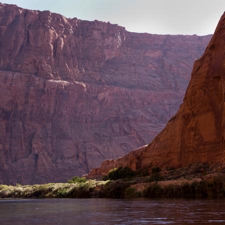 River flowing through a canyon, Glen Canyon National Recreation Area, Colorado River Float Trip, Colorado River, Arizona-Utah, USA