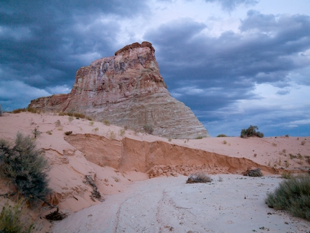 Rock formations on a landscape, Amangiri, Canyon Point, Hoodoo Trail, Utah, USA
