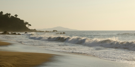 Waves breaking on the beach, Sayulita, Nayarit, Mexico