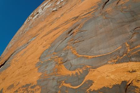 Low angle view of rock, Glen Canyon National Recreation Area, Arizona-Utah, USA 스톡 콘텐츠 - 97773354
