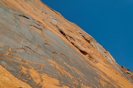 Low angle view of rock, Glen Canyon National Recreation Area, Arizona-Utah, USA 스톡 콘텐츠