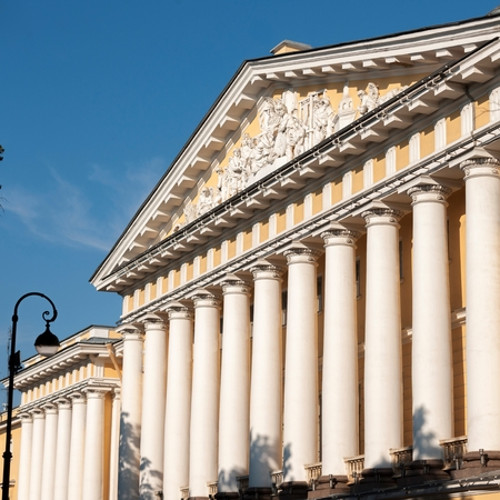 Columns of The Admiralty, St. Petersburg, Russia Stock Photo