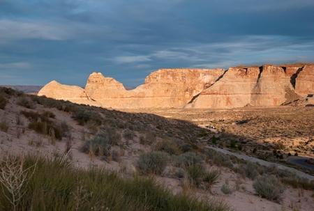 Sandstone cliffs, Amangiri, Canyon Point, Hoodoo Trail, Utah, USA