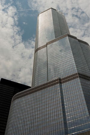 Low angle view of Trump Tower, Chicago, Cook County, Illinois, USA