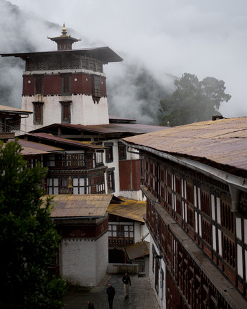 High angle view of Trongsa Dzong, Trongsa, Bhutan Banco de Imagens
