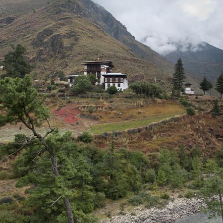 Landscape in Tamchhog Thakhang, Bhutan