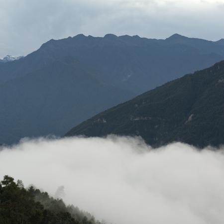 Landscape of Trongsa District in Bhutan