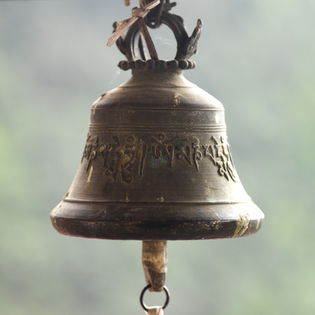 Close-up of a bell, Bhutan Stock Photo