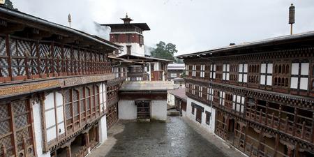Facade of Trongsa Dzong, Trongsa, Bhutan