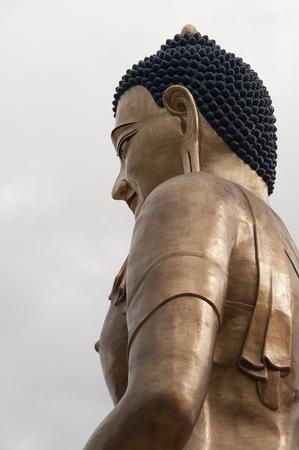 Low angle view of Buddha Dordenma statue, Thimphu, Bhutan