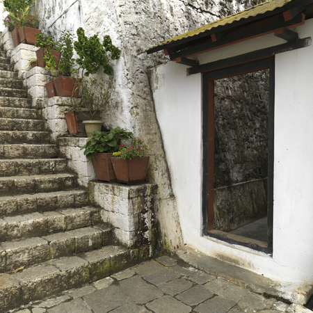Staircase at Punakha Monastery, Punakha, Bhutan