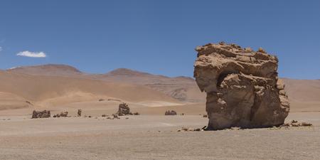View of Pakana Monk, Salar de Atacama, San Pedro de Atacama, El Loa Province, Antofagasta Region, Chile Stock Photo
