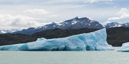 Icebergs in lake, Lake Argentino, Los Glaciares National Park, Santa Cruz Province, Patagonia, Argentina Stock Photo