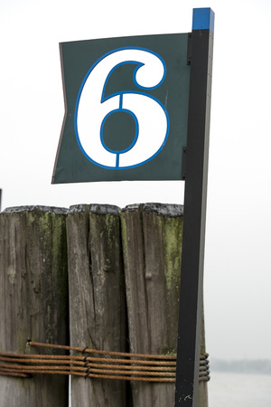 Pier 6 sign, Battery Park, Manhattan, New York City, New York State, USA