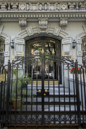 Entrance gate of a building, Manhattan, New York City, New York State, USA