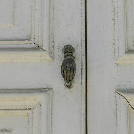 Close-up of door handle, Valparaiso, Chile