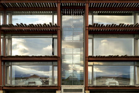 Exterior view of The Singular hotel, Puerto Natales, Patagonia, Chile