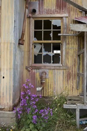 Historical building, Estancia San Gregorio, Patagonia, Chile Stock Photo