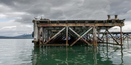 Pier at Singular Hotel, Puerto Natales, Patagonia, Chile