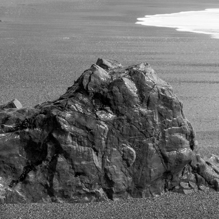 Rock formation on beach, Pacific Rim National Park Reserve, Tofino, Vancouver Island, British Columbia, Canada