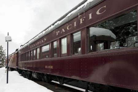 Canadian Pacific train, Banff National Park, Alberta, Canada