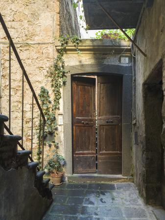 Doorway of a house, Orvieto, Terni Province, Umbria, Italy