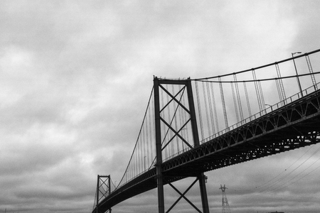 View of A. Murray MacKay Bridge, Dartmouth, Nova Scotia, Canada Stock Photo - 98019176