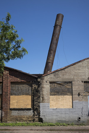 Abandoned industrial building in Minneapolis, Hennepin County, Minnesota, USA Stok Fotoğraf