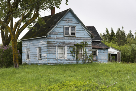 Facade of an abandoned house, New Brunswick, Canada Stock Photo