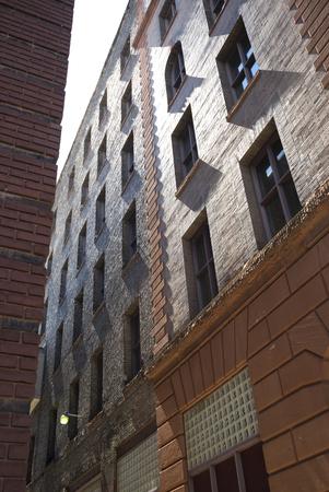 Low angle view of buildings, Minneapolis, Hennepin County, Minnesota, USA Stock Photo