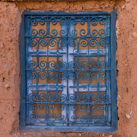 Window of a traditional house, Ouarzazate, Morocco