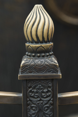 Carving details of railing at Forbidden City, Xicheng District, Beijing, China
