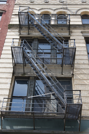 Exterior Fire Escape Of A Building, Seattle, Washington State, USA Stock  Photo