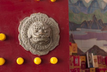 Detail of a door knocker, China
