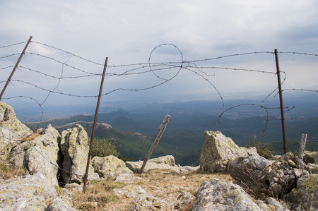 Fencing in the rugged Pyrenean mountains