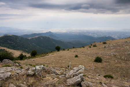 A view from the FrenchSpanish Pyrenean Border Reklamní fotografie