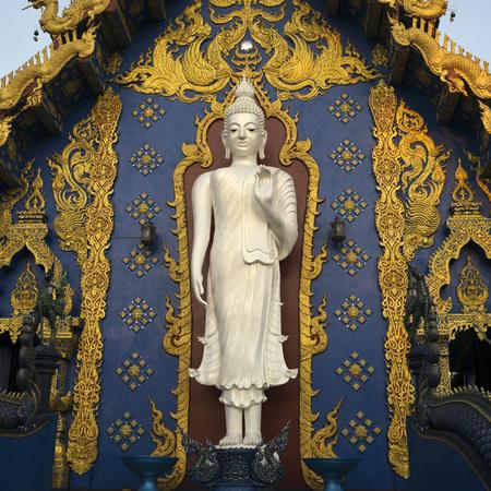 Statue of Buddha at temple, Rong Suea Ten Temple, Chiang Rai, Thailand Stok Fotoğraf
