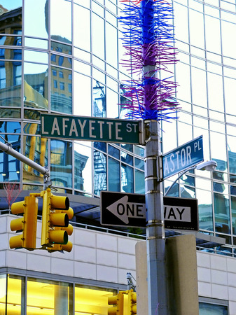New York City Street Signage - Lafayette and Astor
