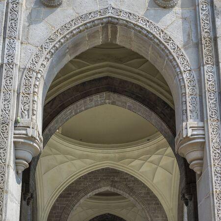 Architectural details of Gateway of India, Colaba, Mumbai, Maharashtra, India 스톡 콘텐츠