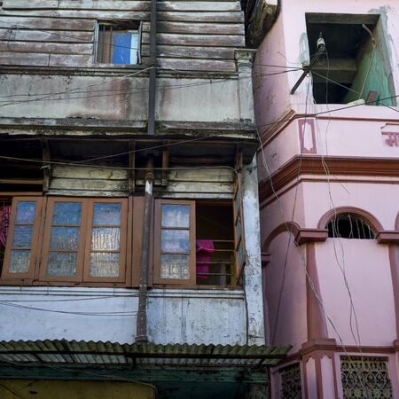 Low angle view of a houses, Darjeeling, West Bengal, India 스톡 콘텐츠