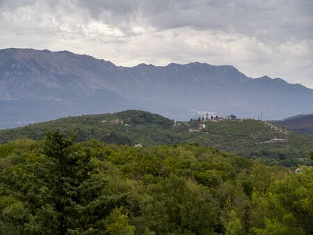 Scenic view of mountain range, Karce, Trivet, Montenegro 스톡 콘텐츠