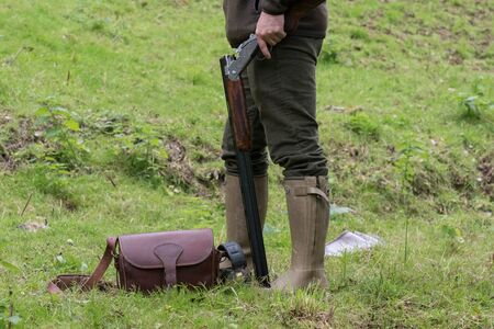 Game shooting gear outdoors Stock Photo
