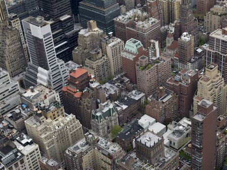Aerial view of skyscrapers in New York City, New York State, USA Reklamní fotografie