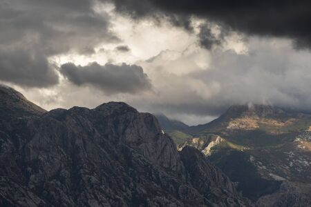 Clouds over mountains, Montenegro