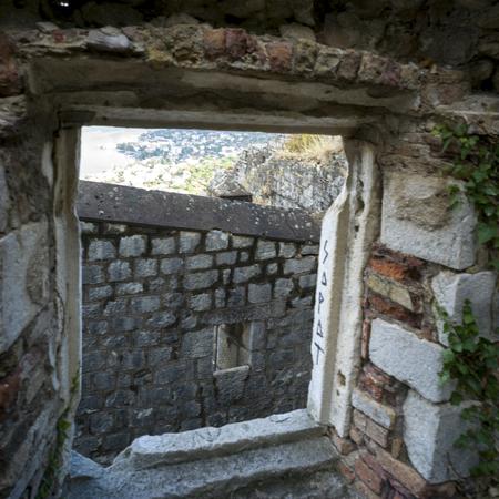 Ruins of Kotor castle of Sain Giovani, Kotor, Bay of Kotor, Montenegro