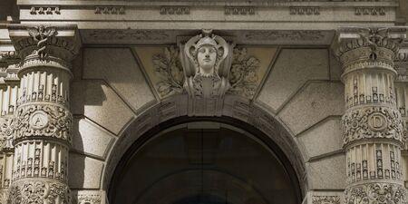 Entrance to New York Public Library, Manhattan, New York City, New York State, USA
