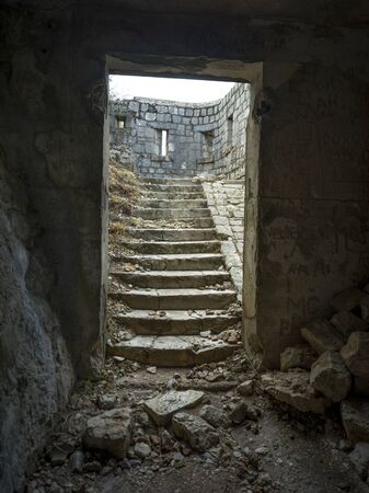Ruins of Kotor Fortress, Kotor, Bay of Kotor, Montenegro