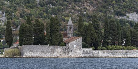Church at the waterfront, Montenegro Reklamní fotografie
